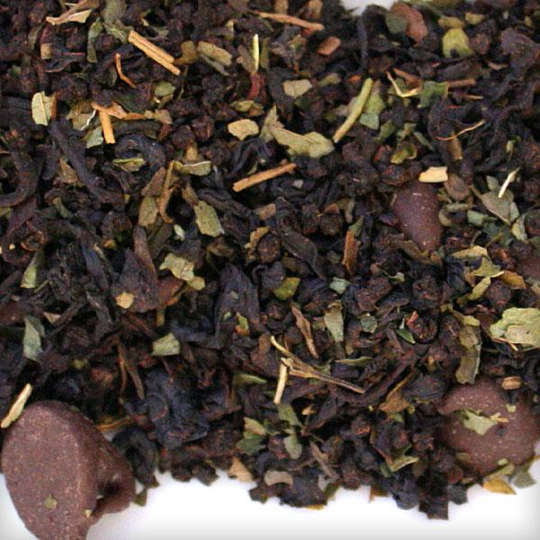 chocolate mint black tea loose bulk