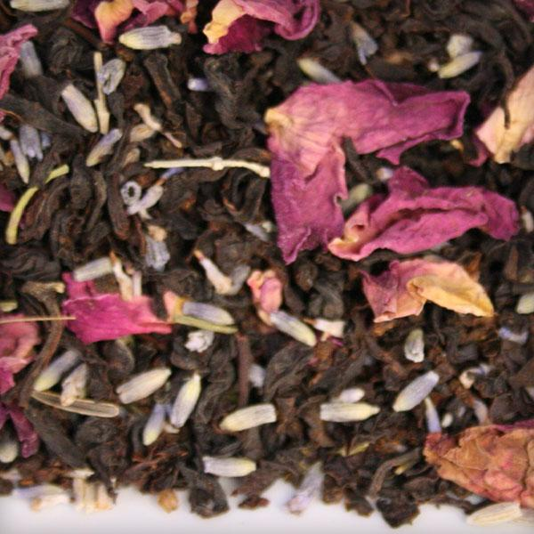 rose tea lavender green black blend