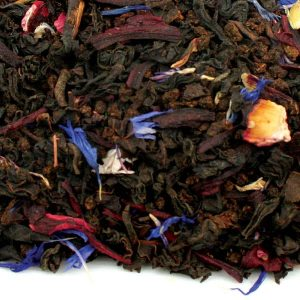 black orange loose leaf tea