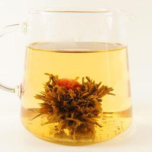 Flower Fountain Peach Green Flowering Tea