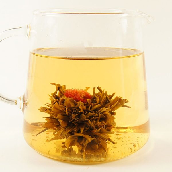 Flower Fountain Peach Green Flowering Tea